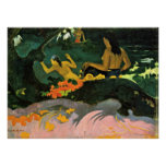 Eugene Henri Paul Gauguin - By the Sea Posters