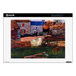 Eugène Henri Paul Gauguin - Farm at the Pouldu Acer Chromebook Decal