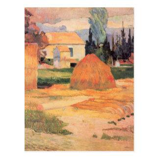 Eugène Henri Paul Gauguin - Farmhouses in Arles Postcard