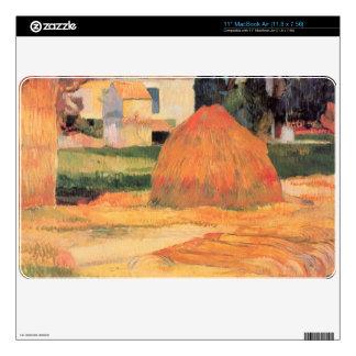 Eugène Henri Paul Gauguin - Farmhouses in Arles Skin For The MacBook