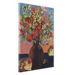 Eugene Henri Paul Gauguin - flowers and cats Gallery Wrapped Canvas