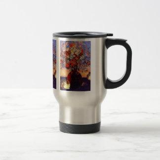 Eugène Henri Paul Gauguin - Flowers and Cats 15 Oz Stainless Steel Travel Mug