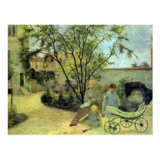 Eugène Henri Paul Gauguin - Garden in Rue Carcel Postcards
