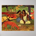 Eugene Henri Paul Gauguin - Joyfulness Poster