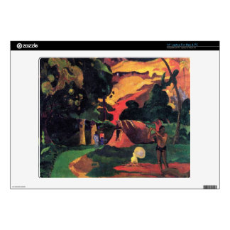 Eugène Henri Paul Gauguin - Landscape With Peacock Laptop Skin