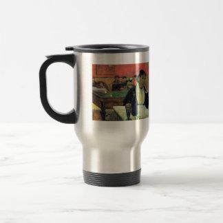 Eugène Henri Paul Gauguin - Madame Ginoux in Cafe 15 Oz Stainless Steel Travel Mug