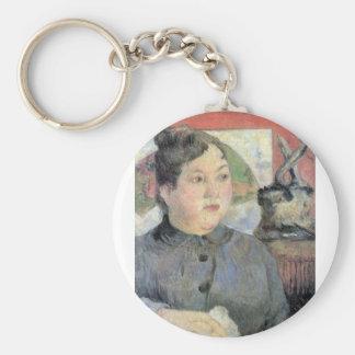 Eugène Henri Paul Gauguin - Madame Kohler Keychain