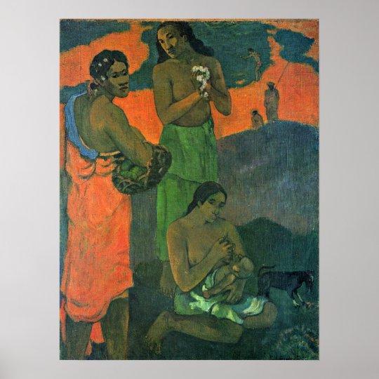 Eugene Henri Paul Gauguin - Maternity Poster