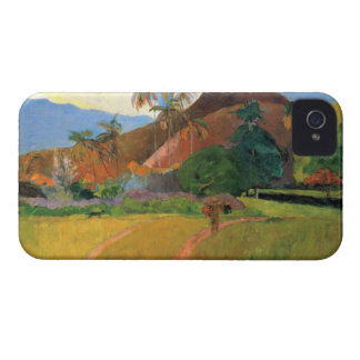 Eugène Henri Paul Gauguin - Mountains in Tahiti iPhone 4 Case-Mate Cases