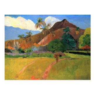 Eugène Henri Paul Gauguin - Mountains in Tahiti Postcard