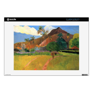 "Eugène Henri Paul Gauguin - Mountains in Tahiti Skin For 13"" Laptop"