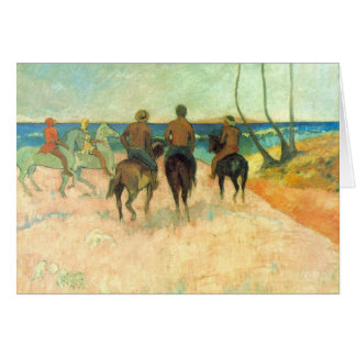 Eugène Henri Paul Gauguin - Riding on the Beach Card