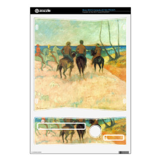 Eugène Henri Paul Gauguin - Riding on the Beach Decal For Xbox 360 S