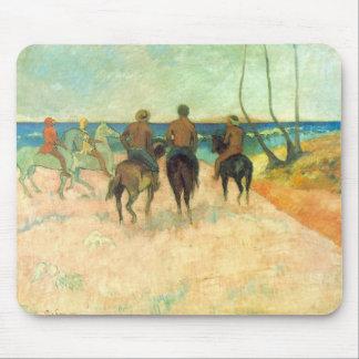 Eugène Henri Paul Gauguin - Riding on the Beach Mouse Pad
