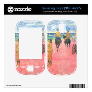 Eugène Henri Paul Gauguin - Riding on the beach Skins For Samsung Flight
