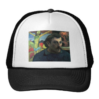 Eugène Henri Paul Gauguin - Self Portrait with Yel Trucker Hat