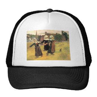 Eugène Henri Paul Gauguin - Small Breton Women Hats