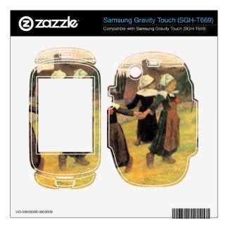 Eugène Henri Paul Gauguin - Small Breton Women Samsung Gravity Touch Skin