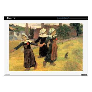 """Eugène Henri Paul Gauguin - Small Breton Women Skins For 17"""" Laptops"""