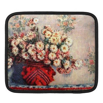 Eugène Henri Paul Gauguin - still life chrysanthem Sleeves For iPads