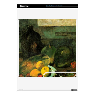 Eugène Henri Paul Gauguin - Still Life in Front of PS3 Slim Console Skins