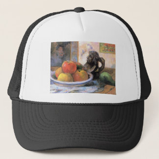 Eugène Henri Paul Gauguin - Still Life with Apples Trucker Hat