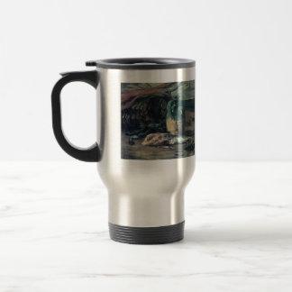 Eugène Henri Paul Gauguin - Still Life with Fish 15 Oz Stainless Steel Travel Mug