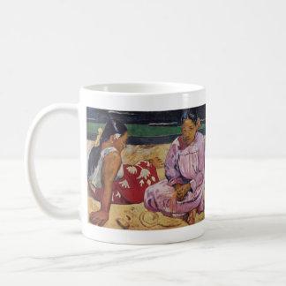 Eugène Henri Paul Gauguin - Tahitian Women on Beac Classic White Coffee Mug
