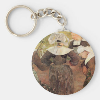Eugène Henri Paul Gauguin - The Dance of 4 Women o Keychain