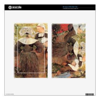 Eugène Henri Paul Gauguin - The Dance of 4 Women o Skin For Kindle Fire