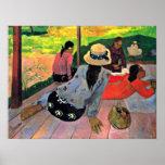 Eugene Henri Paul Gauguin - The Siesta Poster