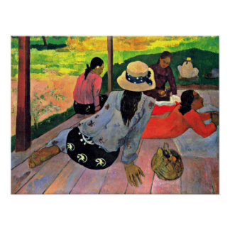 Eugene Henri Paul Gauguin - The Siesta Poster