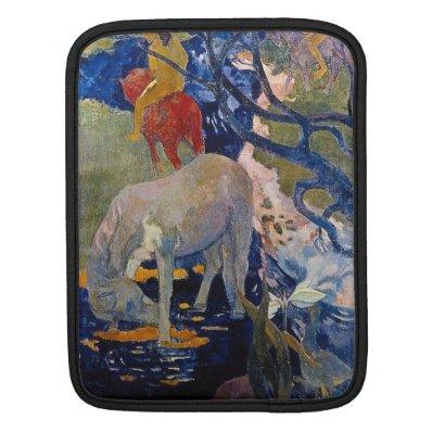Eugène Henri Paul Gauguin - The White Horse Sleeve For iPads