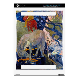 Eugène Henri Paul Gauguin - The White Horse Skin For Xbox 360 Console