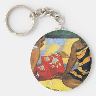 Eugène Henri Paul Gauguin - Two Women From Tahiti Basic Round Button Keychain