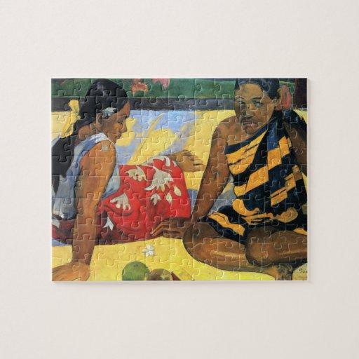 Eugène Henri Paul Gauguin - Two Women From Tahiti Jigsaw Puzzles