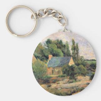 Eugène Henri Paul Gauguin - Washerwomen at Pont-Av Keychains