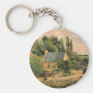 Eugène Henri Paul Gauguin - Washerwomen at Pont-Av Key Chain