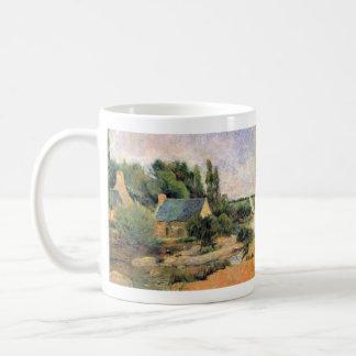 Eugène Henri Paul Gauguin - Washerwomen at Pont-Av Classic White Coffee Mug