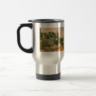 Eugène Henri Paul Gauguin - Washerwomen at Pont-Av Travel Mug