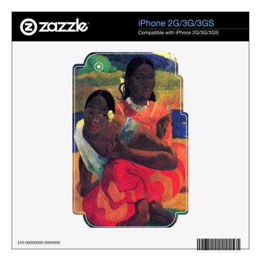 Eugène Henri Paul Gauguin - When You Hear iPhone 3 Decal