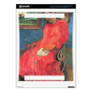 Eugène Henri Paul Gauguin - Woman in Red Dress Decal For Xbox 360