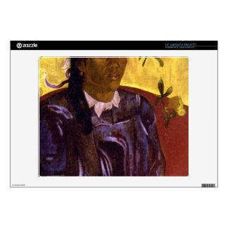 Eugène Henri Paul Gauguin - Woman with Gardenia Laptop Skins