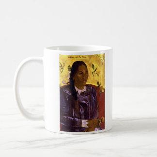 Eugène Henri Paul Gauguin - Woman with Gardenia Classic White Coffee Mug