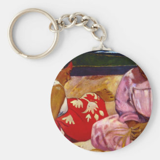 Eugène Henri Paul Gauguin - Women of Tahiti Key Chain