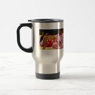Eugène Henri Paul Gauguin - Women of Tahiti 15 Oz Stainless Steel Travel Mug