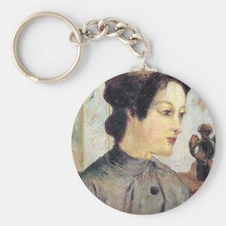 Eugène Henri Paul Gauguin - Women With Topknots Keychains