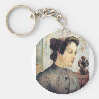 Eugène Henri Paul Gauguin - Women With Topknots Key Chain