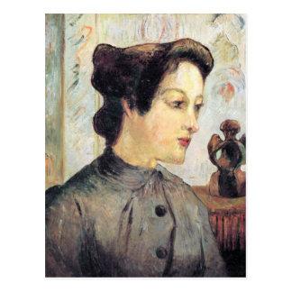Eugène Henri Paul Gauguin - Women With Topknots Postcard