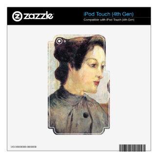 Eugène Henri Paul Gauguin - Women With Topknots Skins For iPod Touch 4G